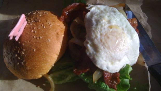 Hangover Burger at Burger Jones