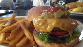 Bison burger from Cooper Irish Pub