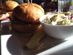 Turkey Birger and coleslaw from Red Cow - Edina, MN