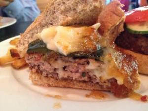 Veal Burger at Glen Lake Cafe