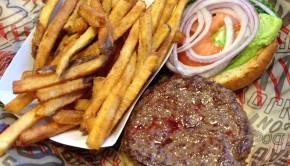 Burger at Streetz Grill