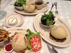 Burgers at Salut, Edina, MN