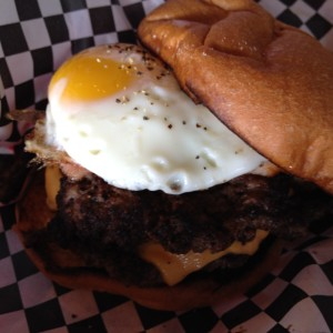 Black Beard/Black Pearl Burger at D Spot