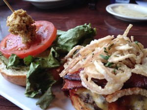 Lowry Burger with Fried Clams
