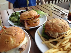 trio of Burgers at Digbys Rosedale MN