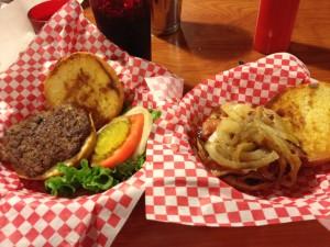 Cheeseburger and Plain Burger at Snuffy's Malt Shop