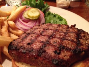 A classic hamburger at JJ's Clubhouse - Golden Valley MN
