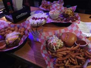 Trio of Burgers - Sporty's Pub & Grill, Minneapolis, MN