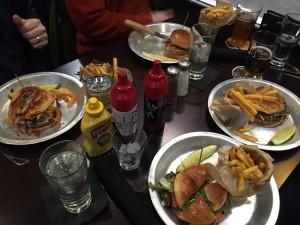 Quartet of Burgers at Pub 819 Hopkins MN