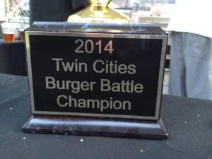 2014 Twin Cities Burger Battle Trophy