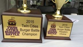 2015 Twin Cities Burger Battle Trophies