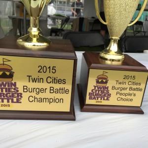 2015 Twin Cities Burger Battle Trophies