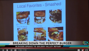 Burger a Week showcased on local news